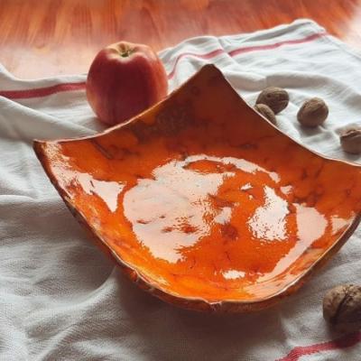 Oranžová keramická miska