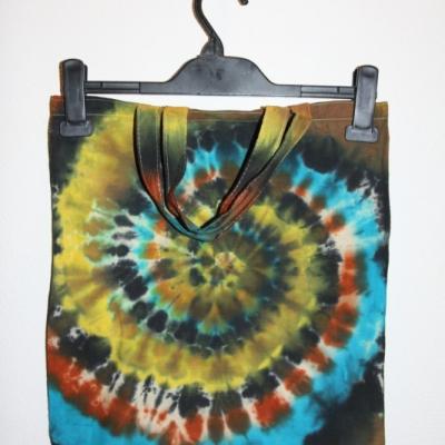 Batikovaná taška s krátkou rúčkou,