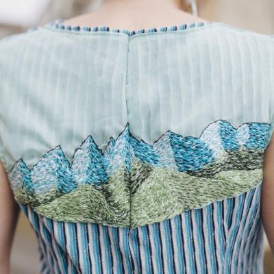 Modré  úpletové šaty Pod Tatrami