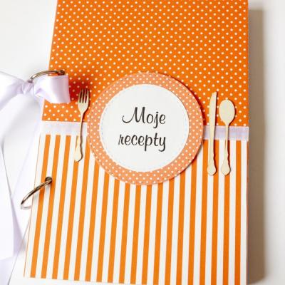 Receptár oranžový pásikavý