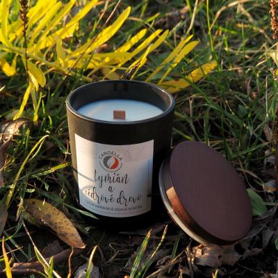 Tymián a cédrové drevo - sójová sviečka (S)