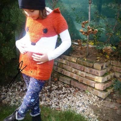 Šaty pletené - líška