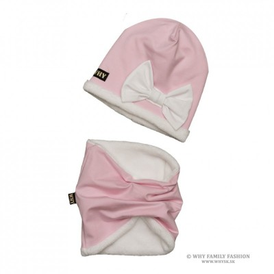 z1004 Set čiapka+tunel LILLY ružový  XL 51-54cm