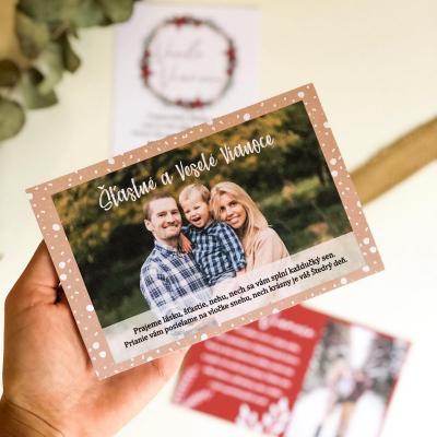 Vianočné personalizované pohľadnice
