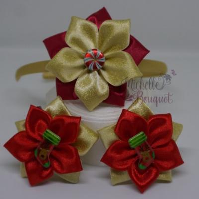 Čelenka a sponky vianočný set
