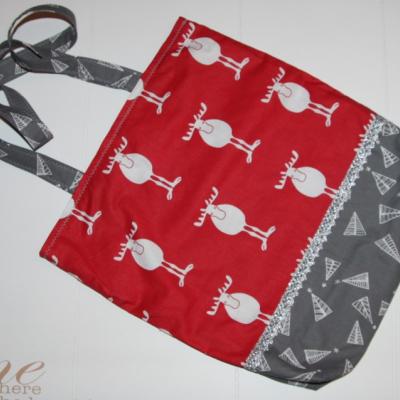 Vianočná nákupná taška - soby