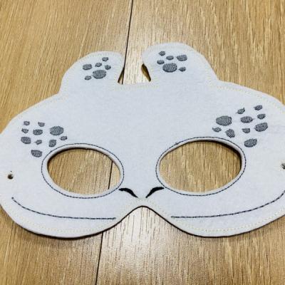 Biela Bežkárov detská karnevalová maska