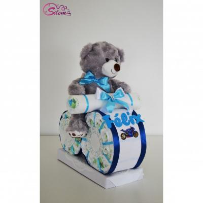 Plienková torta - MOTORKA modrá