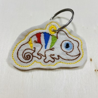 Chameleón - Prívesok na kľúče