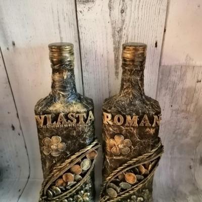 Dekoračná fľaša