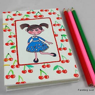 zápisník Dievčatko s čerešňami