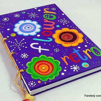 zápisník Retro flower