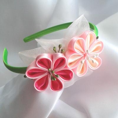 Čelenka pre dievčatko Ružové kvety