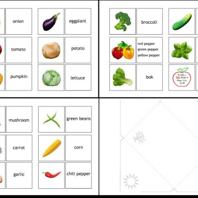 VEGETABLES matching game