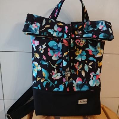 Batoh Lucas - Čierne kvety