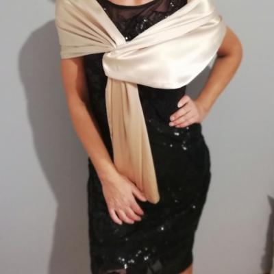 Štóla k spoločenským šatám 150cm _béžová
