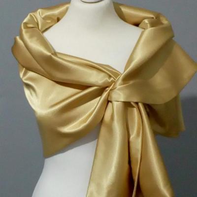 Štóla k spoločenským šatám 150cm _zlatá