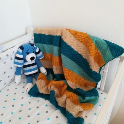 Pletená deka do kočíka či postieľky
