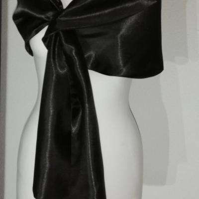 Štóla k spoločenským šatám 150cm _čierna
