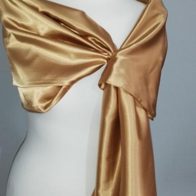 Štóla k spoločenským šatám 150cm _bronzová