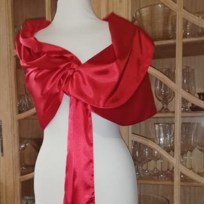 štóla k spoločenským šatám 180cm červená