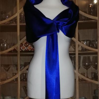 Štóla k spoločenským šatám 150cm _kráľovská modrá