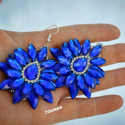 Kamienkové náušnice modré