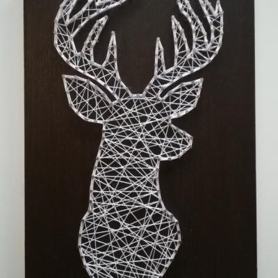 String art obraz Jeleň