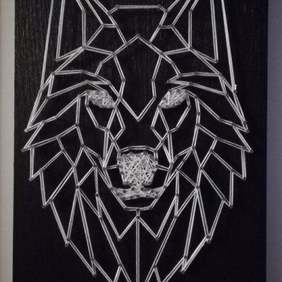 Obraz string art - vlk