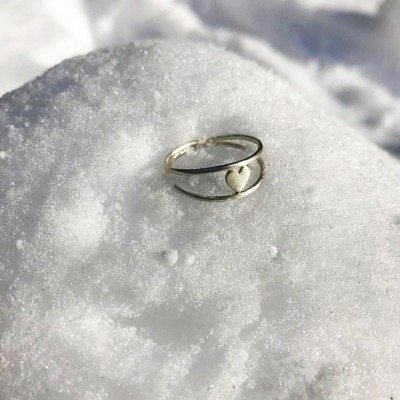 Strieborný prstienok Valentín