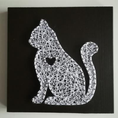 Obraz string art - Mačka