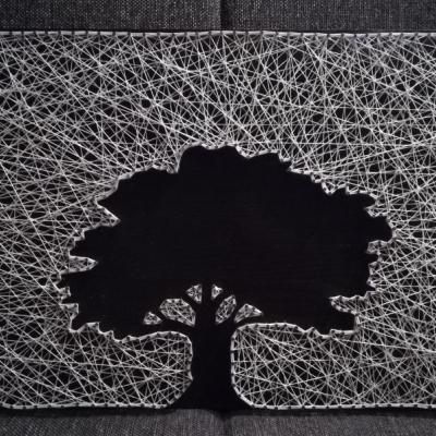 Obraz string art - strom