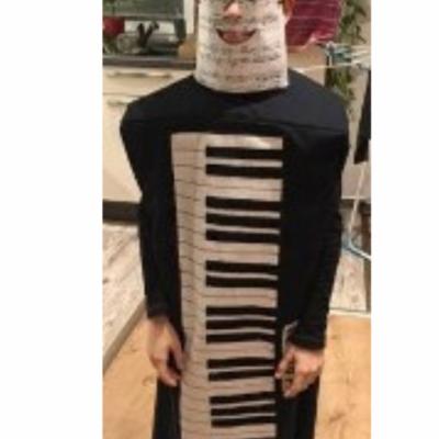 Karnevalová maska KLAVÍR