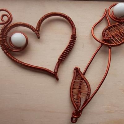 Perla z materského mlieka v medenom srdci