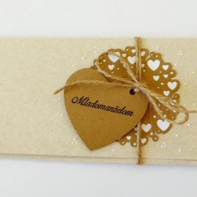 darčeková obálka na peniaze svadobná