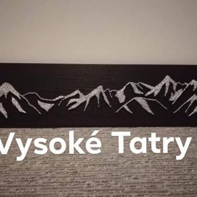 Obraz string art - Vysoké Tatry