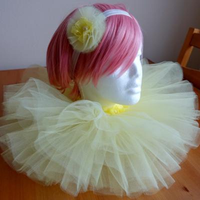 Svetložltá tutu suknička
