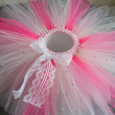 Smotanovo-ružová tutu sukňa