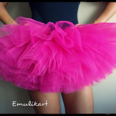Fuchsiová dámska tutu sukňa