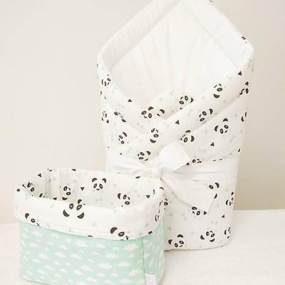 Set zavinovačka a košík na plienky - pandy