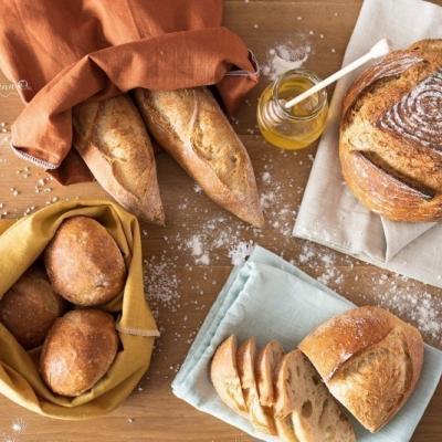 Vrecko na chlieb - škoricové