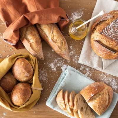 Vrecko na chlieb - biele