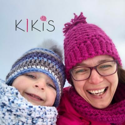 Zimná čiapka a nákrčník - Ružový set