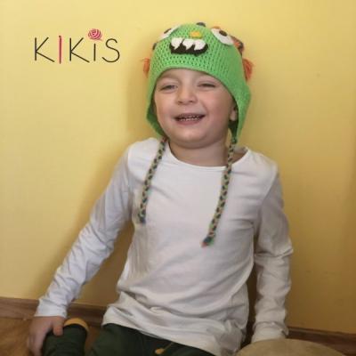 Jarná čiapka - Monster, vhodná aj pre malé Onkoláčičky 😍 a malých Onkoláčikov 😍