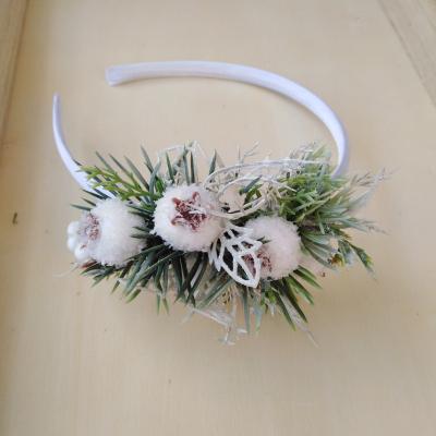 Kvetinová čelenka ľadová kráľovná