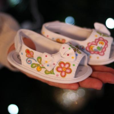 Maľované sandálky