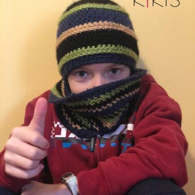 Zimný set - čiapka a nákrčník
