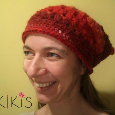 Jarná čiapka - Vlčí mak, vhodná aj pre veľkáčky Onkoláčičky 😍