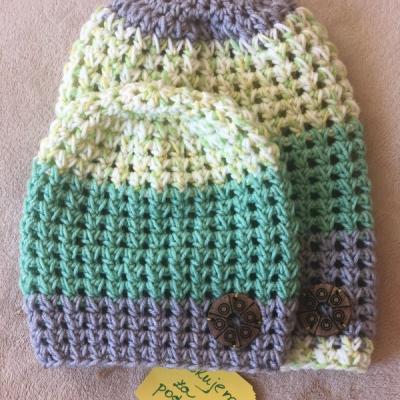 Jarná čiapka Nádej - set Mama a Dcéra