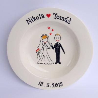 Svadobný tanier - za ruky